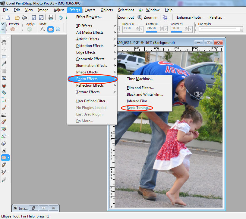 how to bring up menu in corel