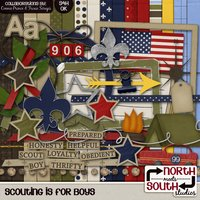 Scouting is for Boys Digital Scrapbooking Kit Tiger Cub Boy Scout