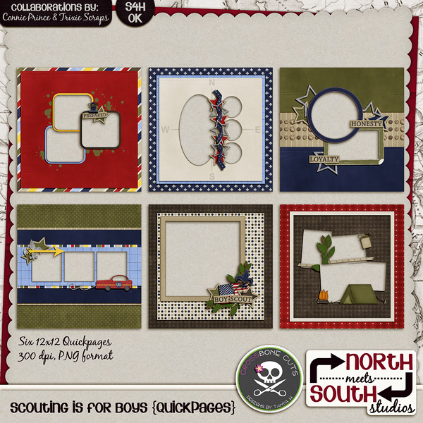 Scouting Is For Boys Digital Scrapbooking Quickpages Tiger Cub Boy