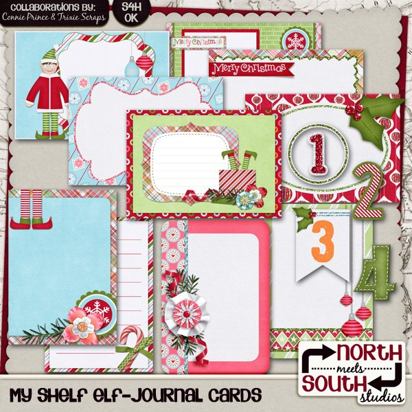 My Shelf Elf Digital Scrapbooking Collab Add-On