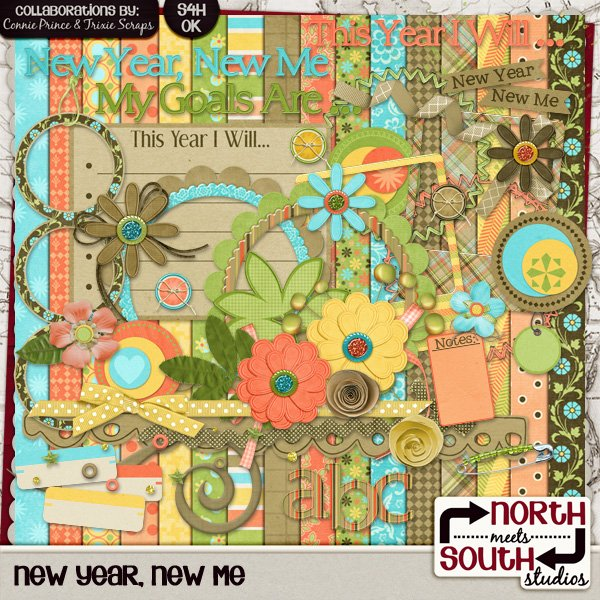 New Year, New Me Digital Scrapbooking Collab Kit Reflections Heritage