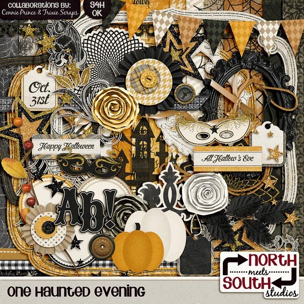 One Haunted Evening Digital Scrapbooking Collab Kit Halloween
