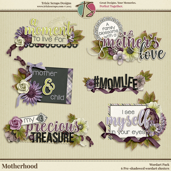 Motherhood Digital Scrapbooking Wordart