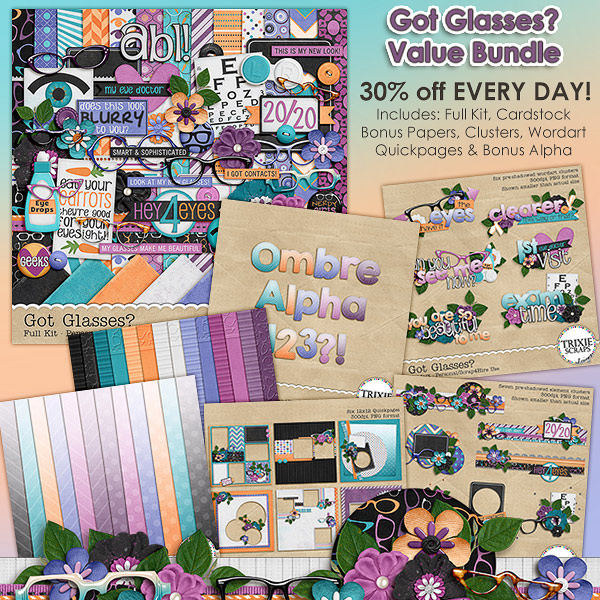 Got Glasses? Digital Scrapbooking Value Bundle
