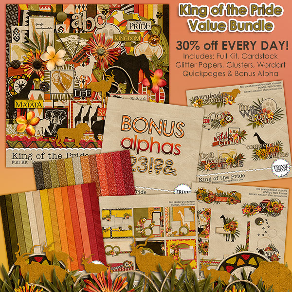 King of the Pride Digital Scrapbooking Value Bundle Disney