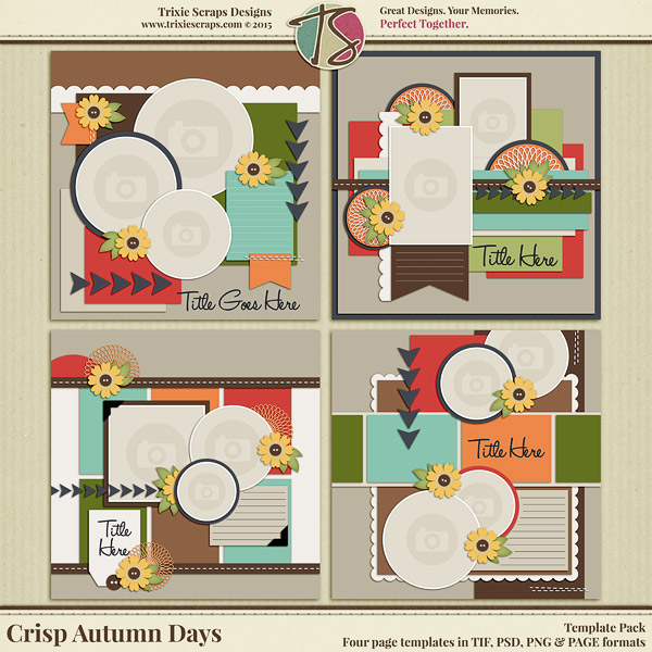 Crisp Autumn Days Digital Scrapbooking Templates
