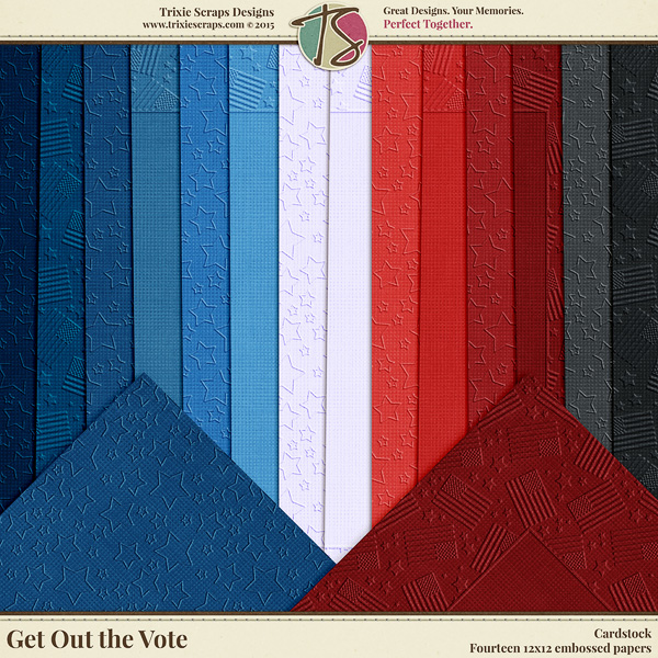 Get Out the Vote Digital Scrapbooking Cardstock