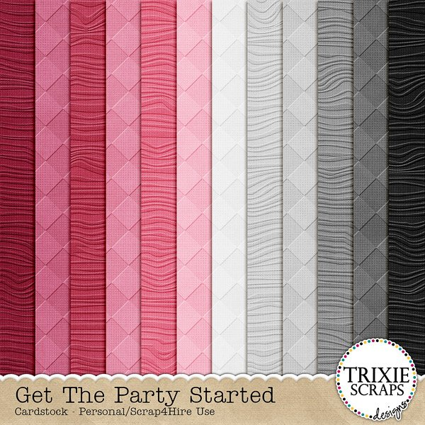 Get the Party Started Digital Scrapbooking Cardstock