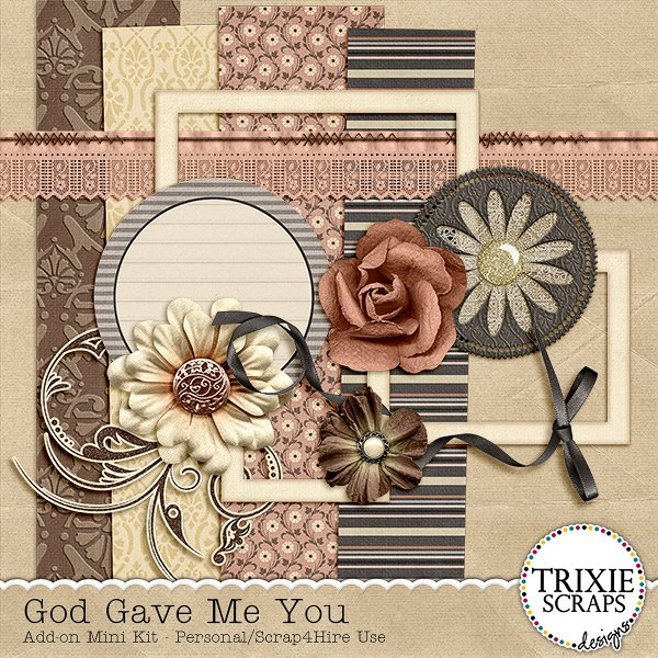 God Gave Me You Digital Scrapbooking Mini Add-on