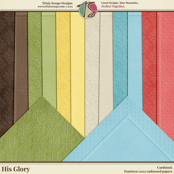 His Glory Digital Scrapbooking Cardstock - Easter Faith Religious