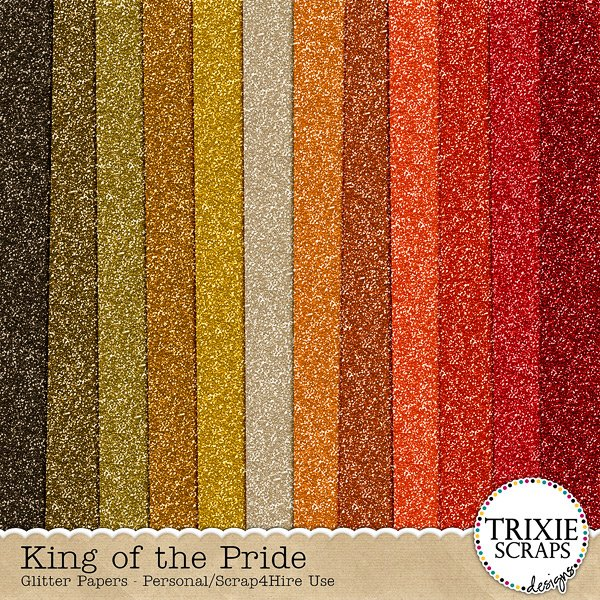 King of the Pride Digital Scrapbooking Glitter Papers Disney