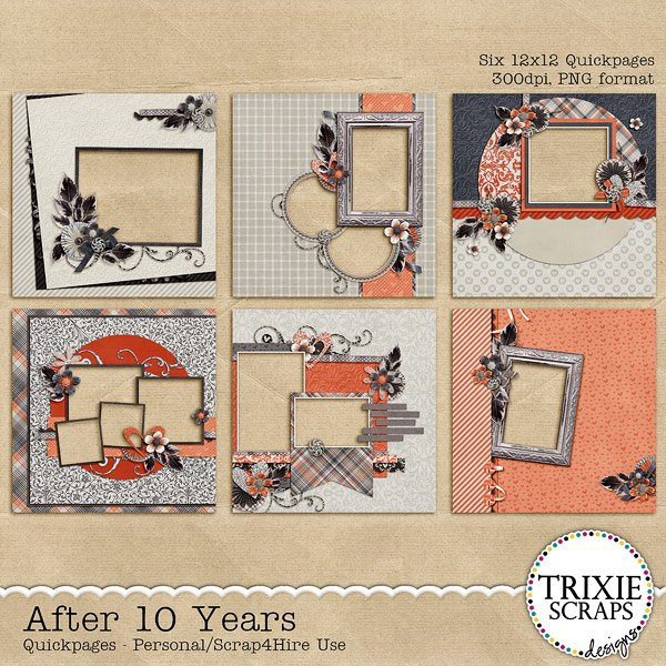 After 10 Years Digital Scrapbooking Quickpages
