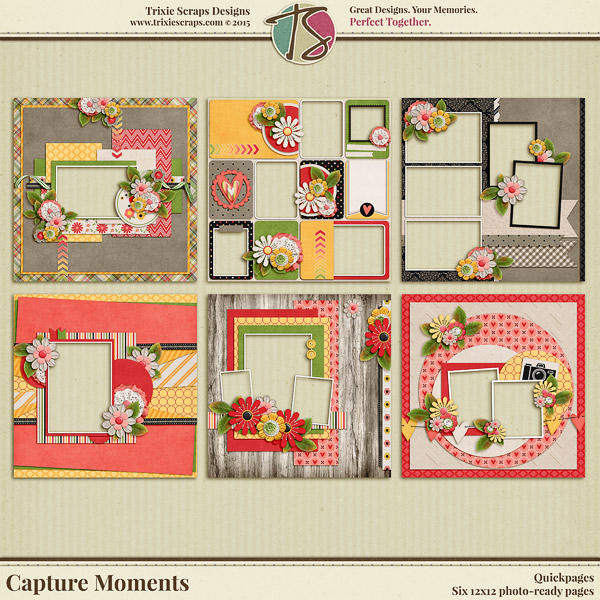 Capture Moments Digital Scrapbooking Quickpages