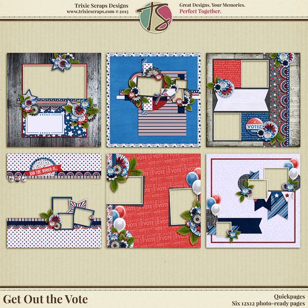 Get Out the Vote Digital Scrapbooking Quickpages