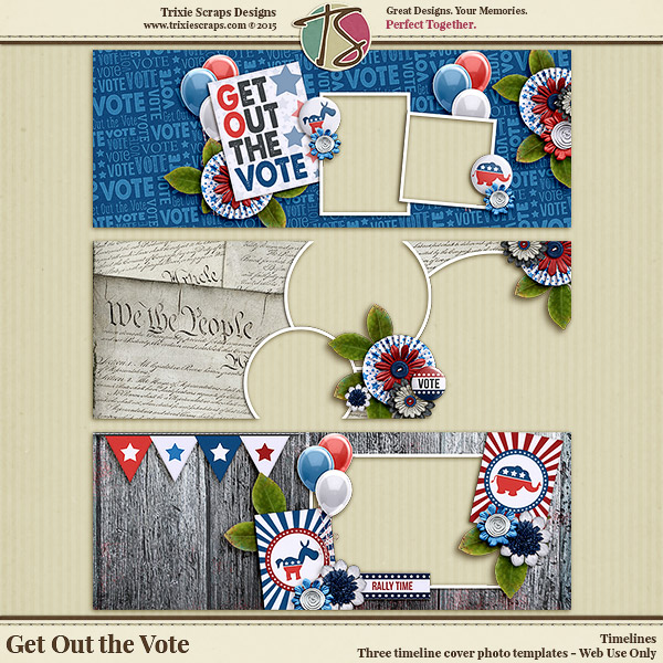 Get Out the Vote Digital Scrapbooking Timelines