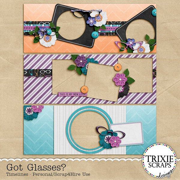 Got Glasses? Digital Scrapbooking Facebook Timeline Covers