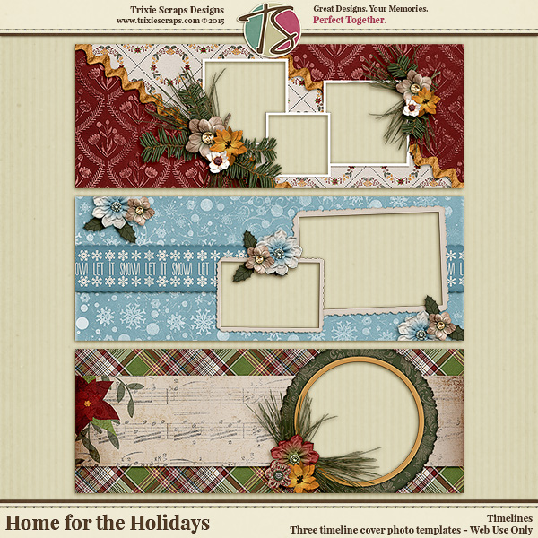 Home for the Holidays Digital Scrapbooking Timelines