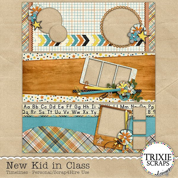 New Kid in Class Digital Scrapbooking Facebook Timelines