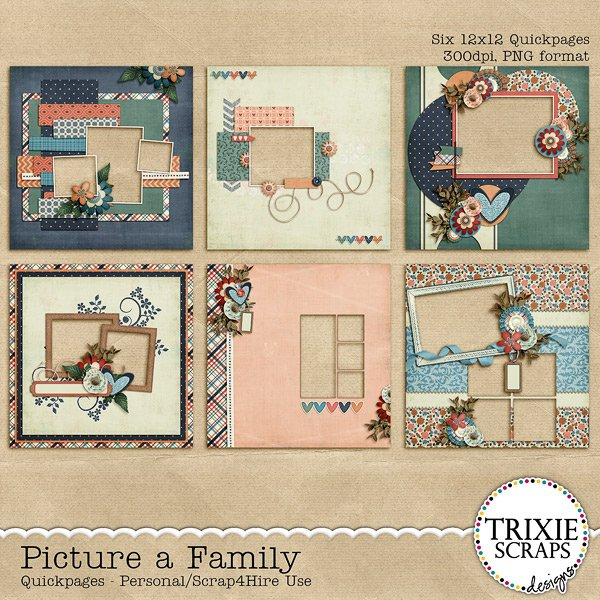 Picture a Family Digital Scrapbooking Quickpages
