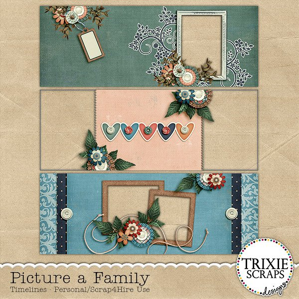 Picture a Family Digital Scrapbooking Facebook Timelines