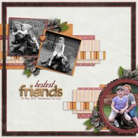 My Sister, My Friend Digital Scrapbooking Kit Siblings Family Kids