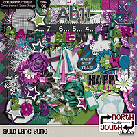 Auld Lang Syne Digital Scrapbooking Collab Kit New Year's Day