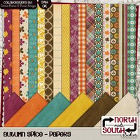 Autumn Spice Digital Scrapbooking Collab Kit Fall Season
