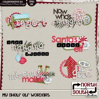My Shelf Elf Digital Scrapbooking Collab Wordart