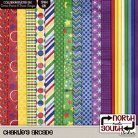 Charlies Arcade Digital Scrapbooking Collab Kit Pizza Party