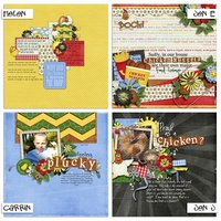 Guess What? Chicken Butt! Digital Scrapbooking Collab Kit Farm Picnic