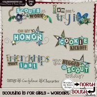 Scouting is for Girls Digital Scrapbooking Wordart Girl Scout Brownies Daisies