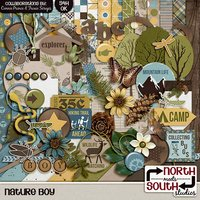 Nature Boy Digital Scrapbooking Collab Kit