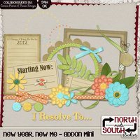New Year, New Me Digital Scrapbooking Add-on Mini Kit