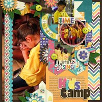 Vacation Bible School Digital Scrapbooking Kit Christian Faith Church Worship