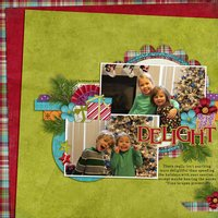 Wrapped in Ribbons Digital Scrapbooking Collab Kit Christmas Holiday