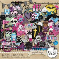 Ghoul School Digital Scrapbooking Collab Kit Monster High