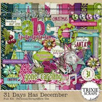 31 Days Has December Digital Scrapbooking Full Kit Christmas Holidays