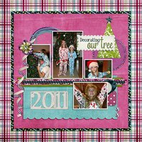 31 Days Has December Digital Scrapbooking Templates PSD/TIF/PAGE