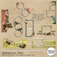 Adoption Day Digital Scrapbooking Element Clusters