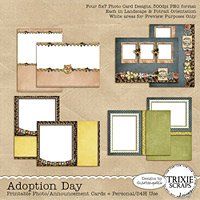 Adoption Day Printable Photo Cards Digital Hybrid Announcements