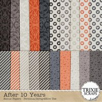 After 10 Years Digital Scrapbooking Bonus Papers