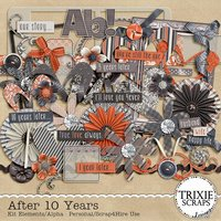 After 10 Years Digital Scrapbooking Full Kit Anniversary Marriage