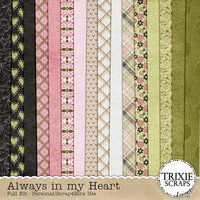 Always in my Heart Digital Scrapbooking Kit Valentine's Day