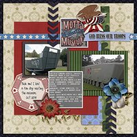 American Heroes Digital Scrapbooking Templates - Military Veteran Patriotic