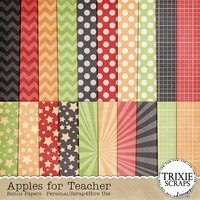 Apples for Teacher Digital Scrapbooking Bonus Papers