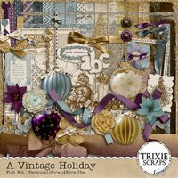 A Vintage Holiday Digital Scrapbooking Kit Christmas Traditions