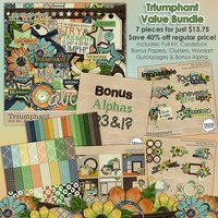 Triumphant Digital Scrapbooking Value Bundle