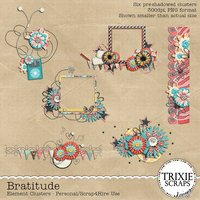 Bratitude Digital Scrapbook Clusters