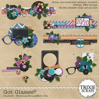 Got Glasses? Digital Scrapbooking Clusters