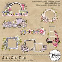 Just One Kiss Digital Scrapbooking Element Clusters Disney